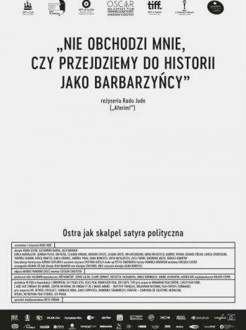 Nie obchodzi mnie, czy przejdziemy do historii jako barbarzyńcy